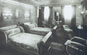 ノルマンディー号の船内寝室