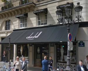 パリのラ・ペ通りのアルフレッド・ダンヒル