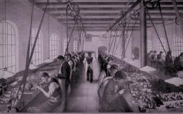 1910年代のダンヒルパイプ製造現場の様子